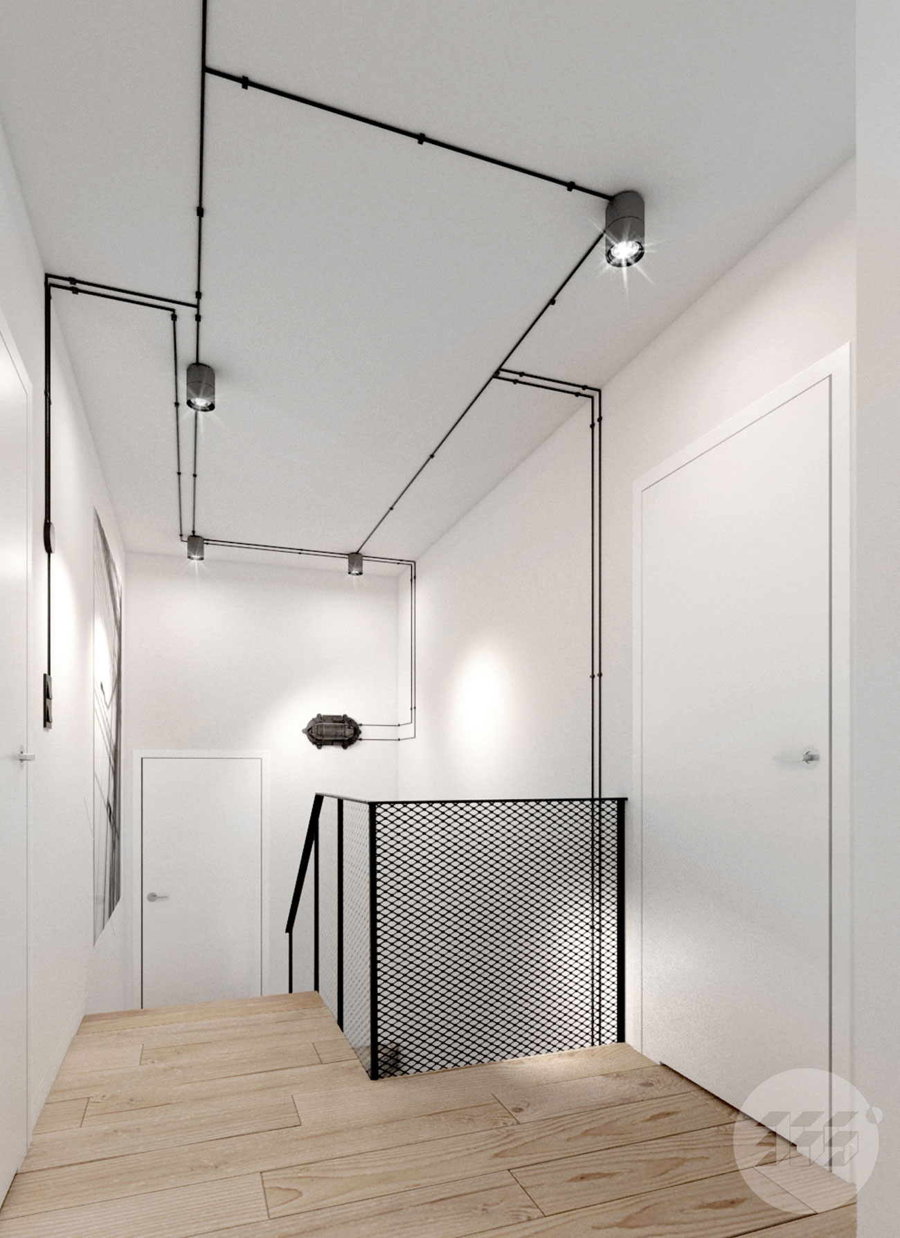 Balustrada stalowa - industrial - loft